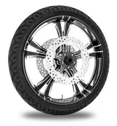 Xtreme Machine Fierce Xquisite 21 Front Wheel Tire Rotor Package Harley 14-15
