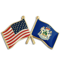 Pinmartand039s Maine And Usa Crossed Friendship Flag Enamel Lapel Pin