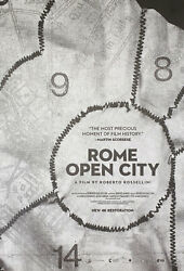 Rome Open City R2014 U.s. One Sheet Poster