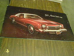Oem 1973 Chevrolet Monte Carlo Dealership Display Picture - Cardboard
