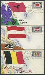 #909-921 OVERRUN COUNTRIES SET - RARE DESIGNS FOR WEIGAND FDC HANDPAINTED WL8911