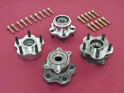 Front And Rear 5-lug Conversion Hub W/ Extended Studs For 240sx 89-94 S13