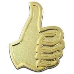 Pinmartand039s Gold Plated Thumbs Up Job Well Done Good Work Lapel Pin