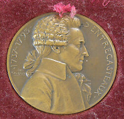 Admiral Dand039entrecasteaux Marine National Francaise Bronze Medal 31 Mouroux W/box