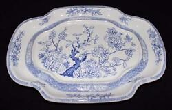 Cedra China Blue Oriental Flowers 13 1/2 By 9 3/4 Meat Tray Or Platter