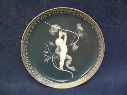 Porcelain Pate Sur Pate Larger Size Plate Decorated With A Putti Picking Grapes
