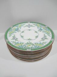 Rare Colored Minton Japonica 10 Dinner Plates B889 Rdno 621111 Year 1915