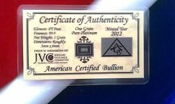 50 Pack Acb Platinum Solid Bullion Minted 1grain Bar 999 Pure W/ Certificate