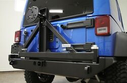 Rock Hard 4x4 Patriot Series Rear Bumper W/ Tire Carrier 07-18 Jeep Wrangler Jk