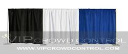 Pipe And Drape / Backdrop / Photobooth Kit In Premier Fabric Vip Crowd Control