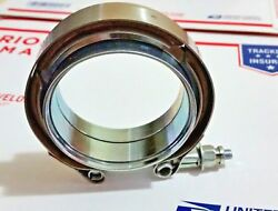 2.25and039and039 Inch Mild Steel Flange Clamp Kit Male/female Exhaust Turbo 2.25 V Band