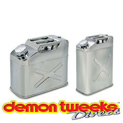 Stainless Steel Petrol/diesel/fuel Jerry Can With Screw Cap Ideal For Race/rally
