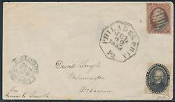 15l18 On Cover W/ 3¢ 11 Going To Wilmington, De Bs3140
