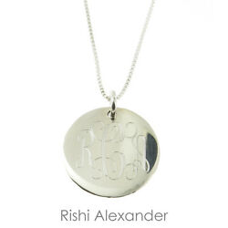 925 Sterling Silver Monogrammed Personalized Childrens Necklace