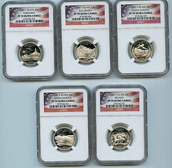 2006 S 5 Silver State Quarter Ngc Pf70 Graded Ucam Proof Coin 25 Cent Set