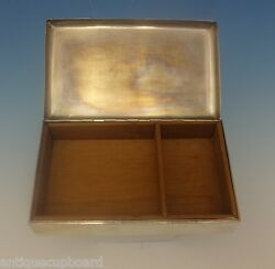 Sterling Silver Cigarette Box Wood Lined 6 X 3 1/2 0329