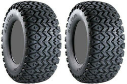 Pair 2 Carlisle All Trail 22x11-10 ATV Tire Set 22x11x10 ITP 22-11-10