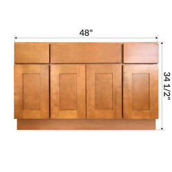 48 Bathroom Vanity Sink Base Cabinet Maple Newport By Lesscare