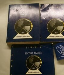 1999 FORD ESCORT TRACER SERVICE SHOP MANUAL SET OF 3