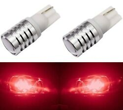 LED Light 5W 2825 Red Two Bulbs Dome Map Park License Side Marker Mirror