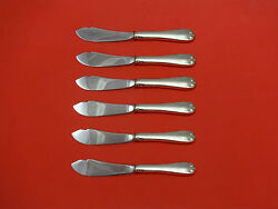 Flemish By And Co. Sterling Silver Trout Knife Set 6pc Hhws Custom Made