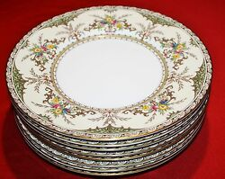 Minton Chatham 9 Lunch Plates - Set Of 7- Mint