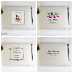 Personalised Wedding Guest Book Or Engagement Anniversary Party | Unique Gift