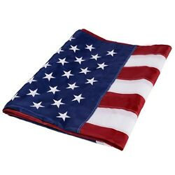 4and039x6and039 Ft American Flag Sewn Stripes Embroidered Stars Brass Grommets Usa Us U.s.