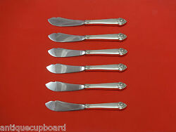 King Cedric By Oneida Sterling Silver Trout Knife Set 6pc Hhws Custom Made