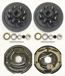 Trailer 8 On 6.5 Hub Drum Kits With 12x2 Electric Brakes For 7000 Lbs Axle