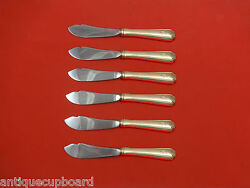 Lady Constance By Towle Sterling Silver Trout Knife Set 6pc Hhws Custom Made