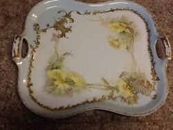 Antique D And C Limoges Delinieres Cie Limoges Vanity Tray Relief France C 1895