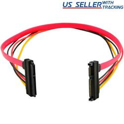15+7 Pin Sata Hdd Extension Cable Data And Power Male To Female 19 / 50cm