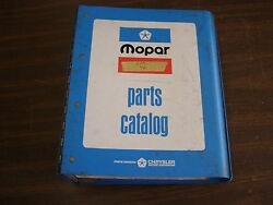 Oem 1974 Dodge Chrysler Plymouth Dart Master Parts Book Imperial Coronet Valiant