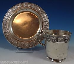 Nursery Rhyme By Gorham Sterling Silver Childand039s Set 2pc Cup And Plate 0875