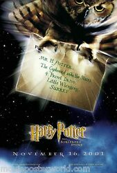Harry Potter Movie Poster Ds Advance 1 Sided Hedwig Invitation 27x40