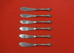 Majestic By Alvin Sterling Silver Trout Knife Set 6pc. Hhws Custom 7 1/2