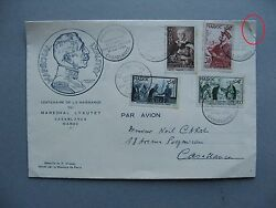 Morocco Cover Fdc 1954 Marchal Lyauty