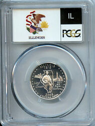 Illinois 2003 S Silver State Quarter Pcgs Pr70 Graded Dcam Proof Coin 25 Cent