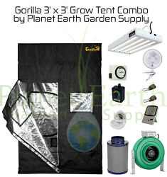 Gorilla Grow Tent (3' x 3') T5 Combo Package #1 for plants.  FREE SHIPPING