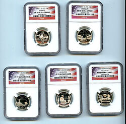 2003 S 5 Silver State Quarter Ngc Pf70 Graded Ucam Proof Coin 25 Cent Set