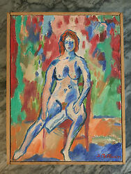 Abbott Pattison Painting Flaming Red Head Listed Ny/me/chicago Studio Torno