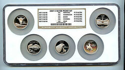 2007 S 5 Silver State Quarter Ngc Pf70 Graded Ucam Proof Coin 25 Cent Set P4
