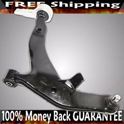 Front Lh Driver Lower Control Arms Black For 2003-2007 Nissan Murano