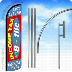 Income Tax E-file Fast Refund Help - Windless Swooper Flag Kit 15and039 Feather Rz
