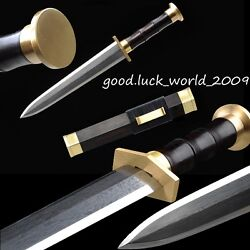 100 Hand Forged Boutique Chinese Short Sword Dagger Pattern Steel Copper Ebony