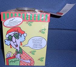 Maxine Shopping Bag Tin, Older, Misp Just A Little Something For You To Drag