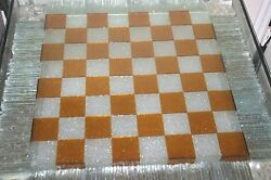 Incredible Chess Table! One-of-a-Kind Glass, Lighted Chess Table, Art Glass!