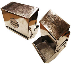36oz Rite Farm Products 6 Sifter Base Andlid Rabbit Feeder Galvanized Steel Metal