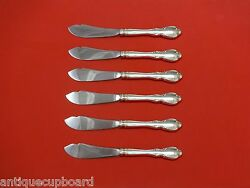 Legato By Towle Sterling Silver Trout Knife Set 6pc. Hhws Custom Made 7 1/2
